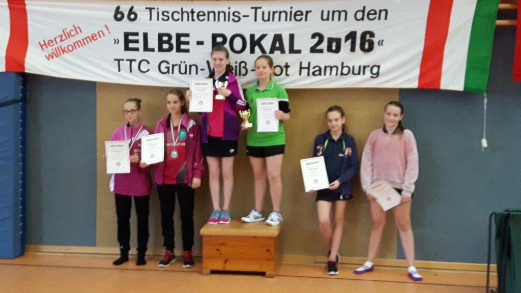 Siegerinnen im Schülerinnen-Doppel